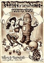 Poster Roboter Nightliner Tattoo Berlin